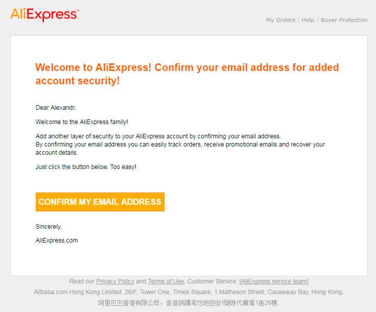 Adres doldurma ve AliExpress üzerine sipariş verme