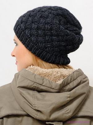 красивая шапка спицами для женщин с описанием красивая шапочка на