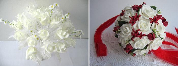 Свадебный букет из искусственных цветов своими руками: мастер 13