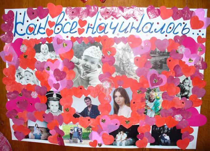 Стенгазета ко дню рождения мамы своими руками. Красивый плакат на ... | 488x680